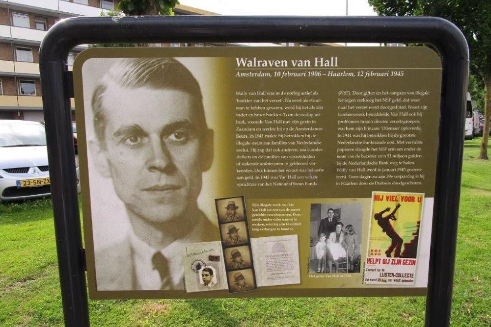 Informatiepaneel Verzetsheld Walraven van Hall