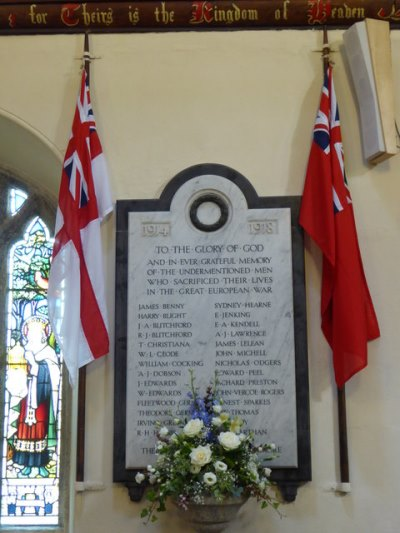 War Memorial St. Just in Roseland Church