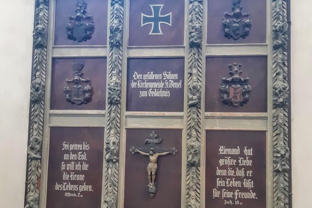 Oorlogsmonumenten Stadtkirche St. Wenzel Naumburg