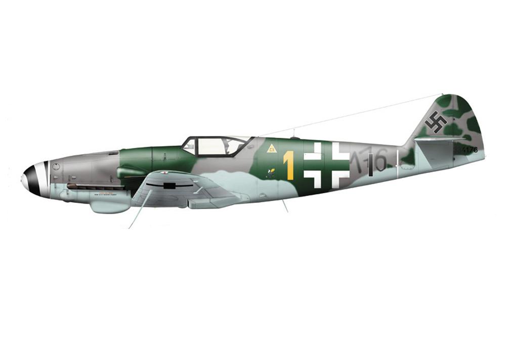 Crashlocatie Messerschmitt Bf 109K-4 331344