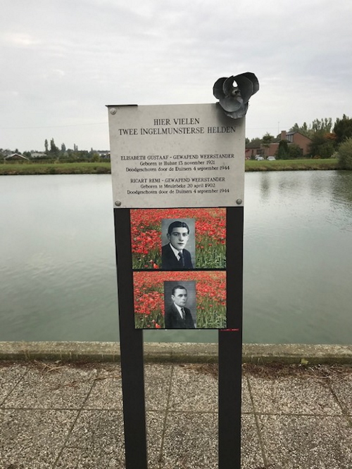 Commemorative Plate Killed Resistance Fighters Ingelmunster
