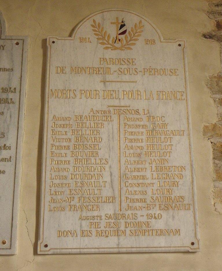 Oorlogsmonument Église Saint-Pierre et Saint-Paul