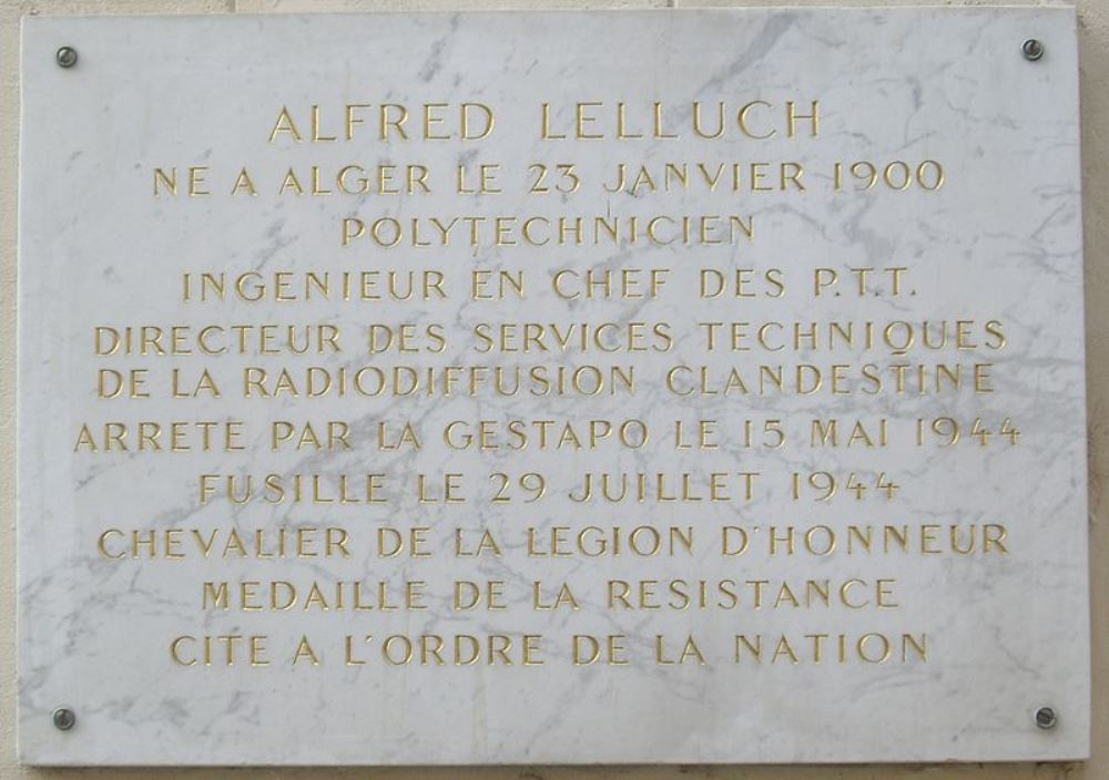Plaque Alfred Lelluch