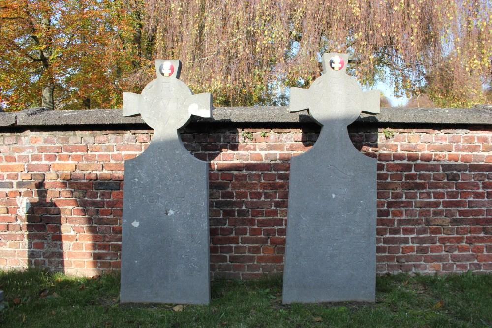 Flemish tombstones War Veterans Bazel