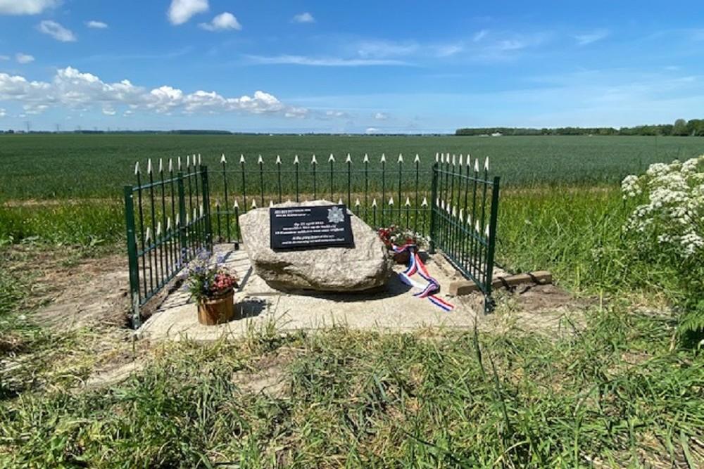 Memorial Plaque Canadian Fallen Battle of Delfzijl-Pocket