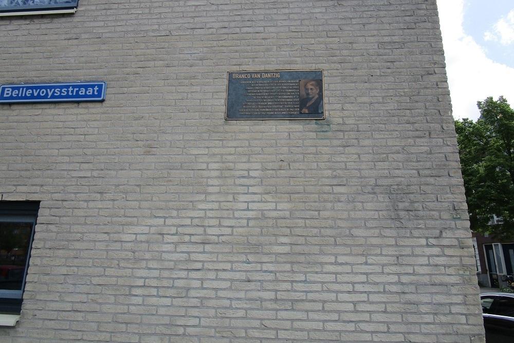 Plaque Branco van Dantzig Rotterdam