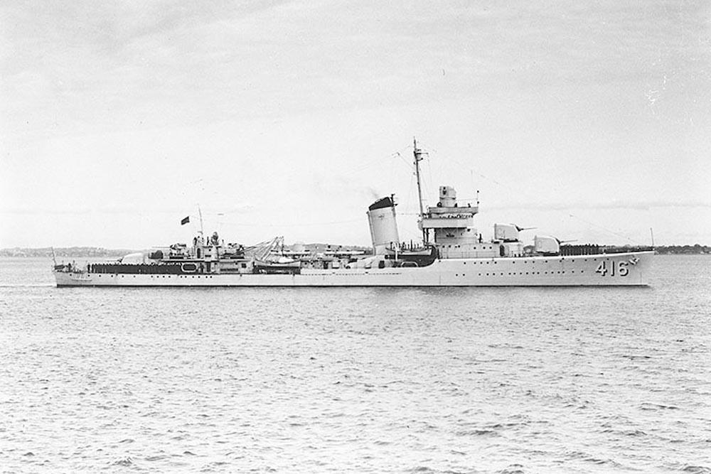 Scheepswrak USS Walke (DD-416)