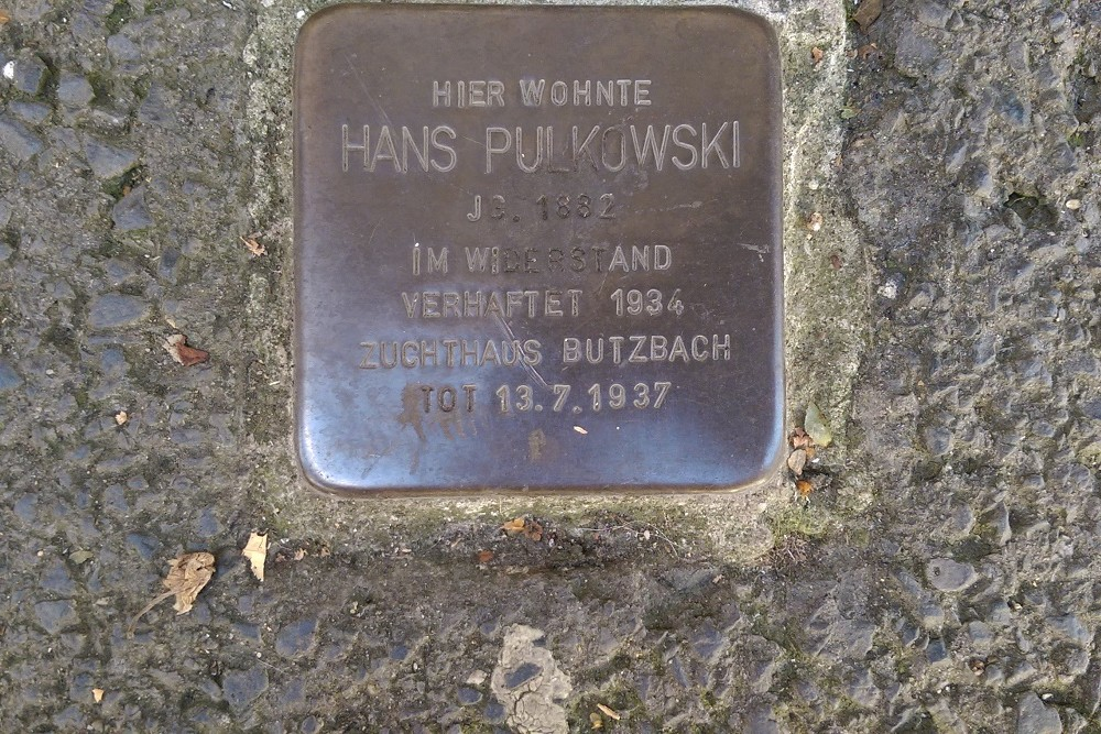 Stumbling Stone Blücherstraße 48