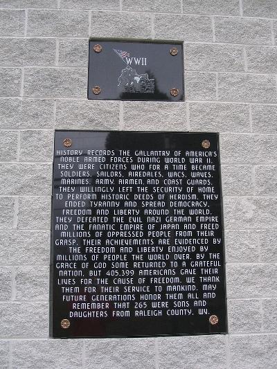 Oorlogsmonument Raleigh County