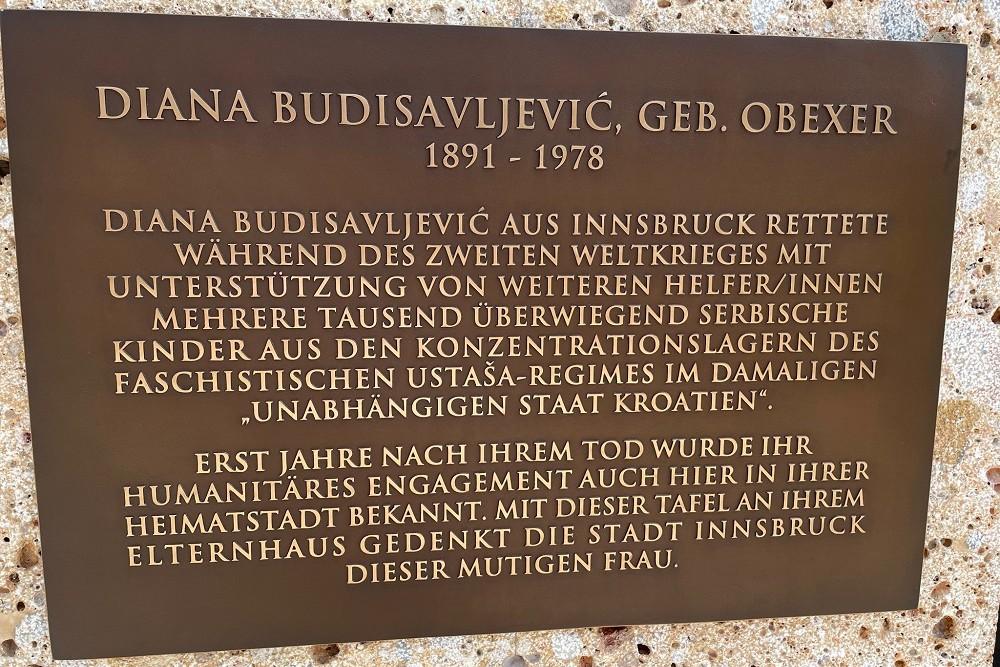 Plaquette Diana Budisavljević
