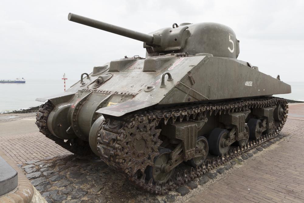 Landing Memorial M4A4 Sherman Tank Westkapelle