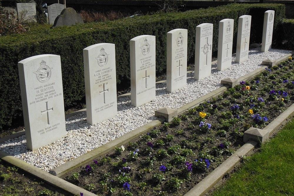 Commonwealth War Graves Protestant Churchyard Heemskerk