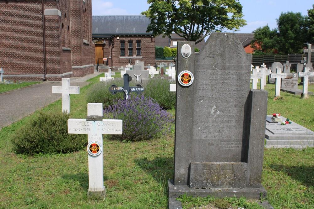 Graven Oudstrijders Kerkhof Molenbeersel