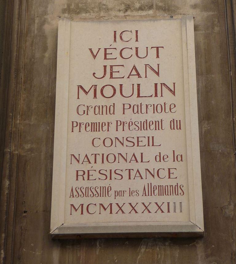 Plaquette Jean Moulin