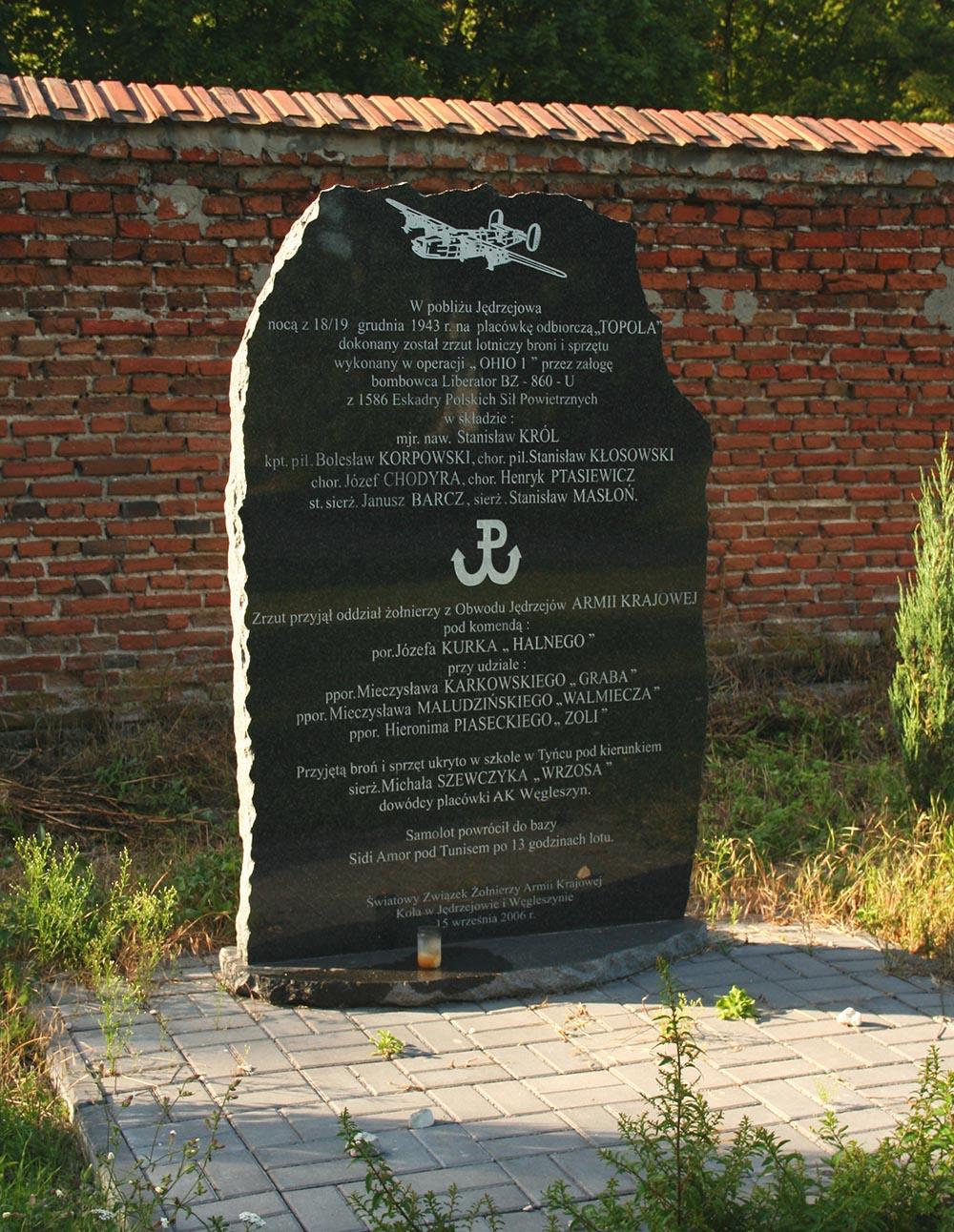 Monument Dropping Armia Krajowa 1943