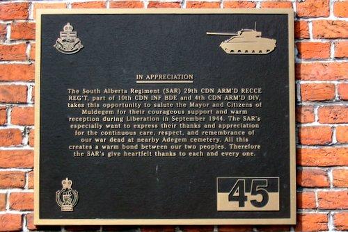 Plaquette South Alberta Regiment