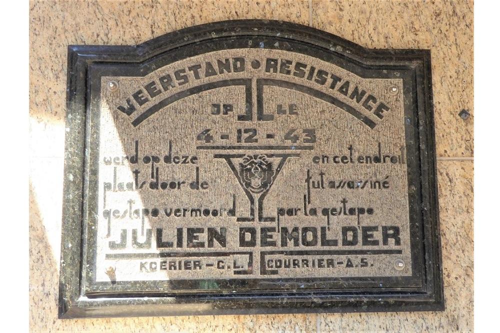 Memorial Plaque Julien Demolder