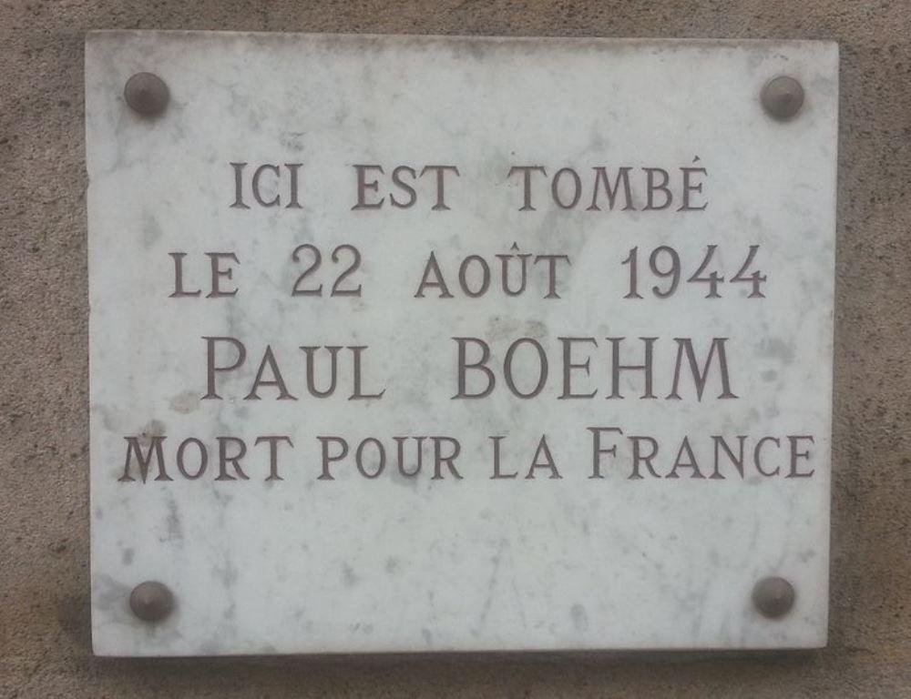 Plaque Paul Boehm