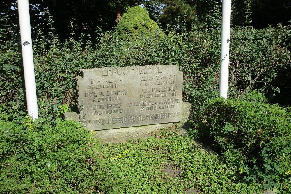 Memorial 'Leeuwengarde' General Cemetery Crooswijk