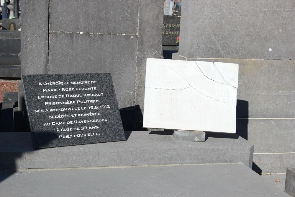Gedenksteen Begraafplaats Irchonwelz