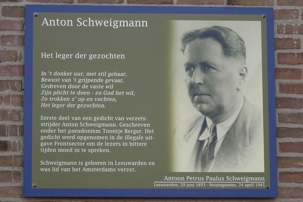 Memorial Plates Slotermeer Schweigmannstraat