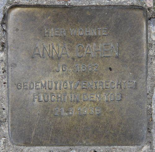 Stumbling Stone Derfflingerstraße 16
