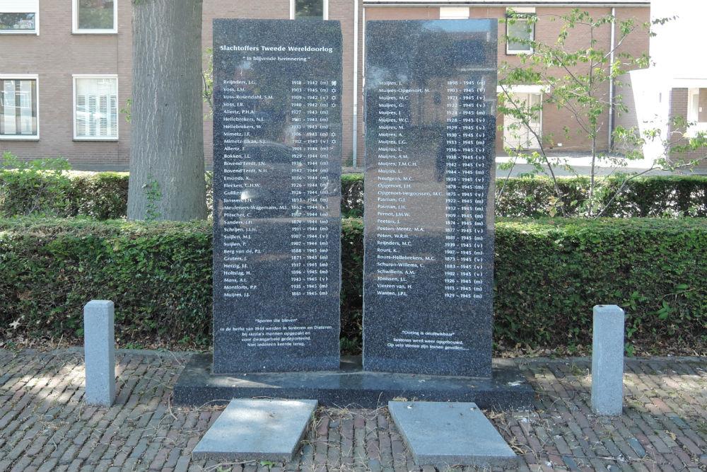 Monument 'Sporen die Bleven' Susteren