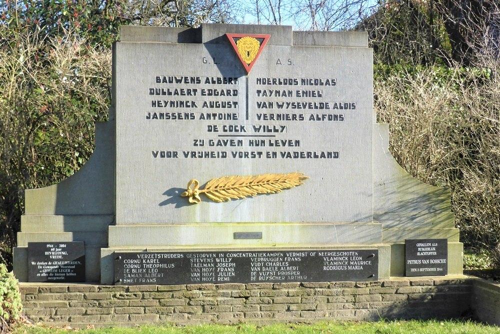 War Memorial Secret Army Belsele