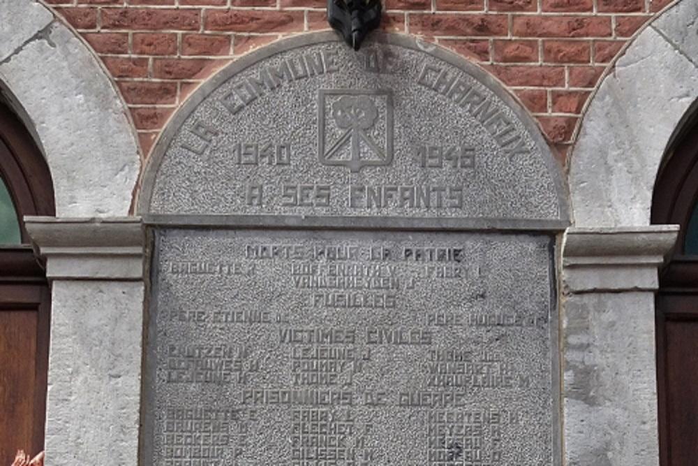 Commemorative Plate Second World War Charneux