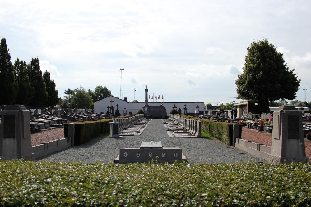 Herdenkingszuilen Ereperk Begraafplaats Aalst