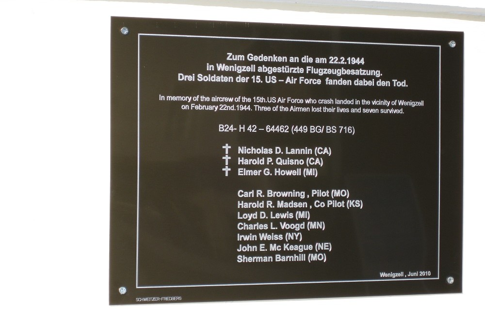 Monument Crash B-24 Wenigzell