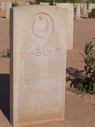Libyan War Grave Tobruk