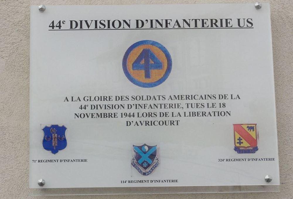 Plaquette 44th US Infantry Division