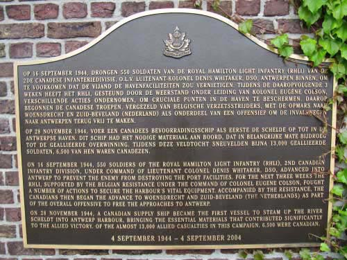 Plaque Royal Hamilton Light Infantry (R.H.L.I.)
