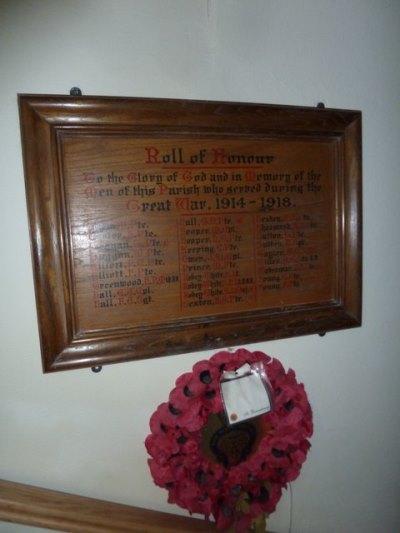 Roll of Honour St. Leonard Church