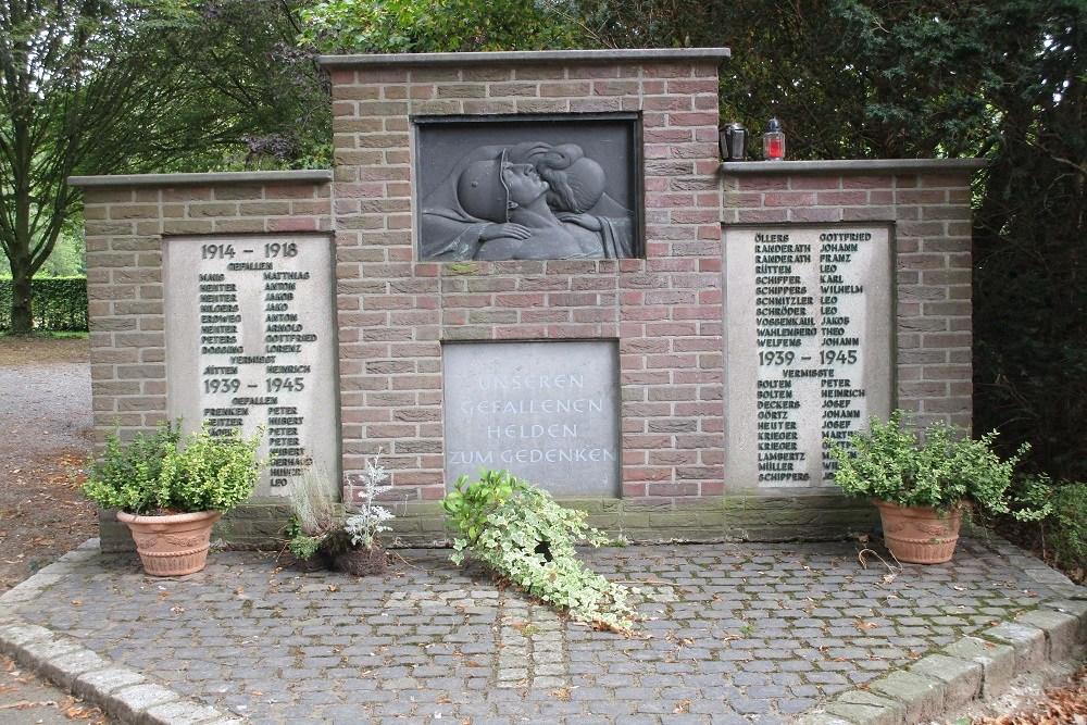 Oorlogsmonument op begraafplaats Horst