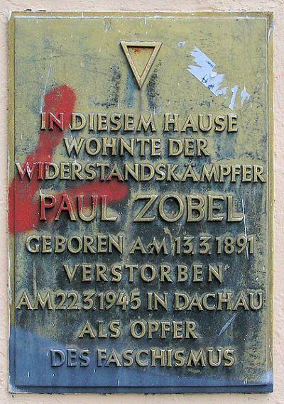 Plaque Paul Zobel