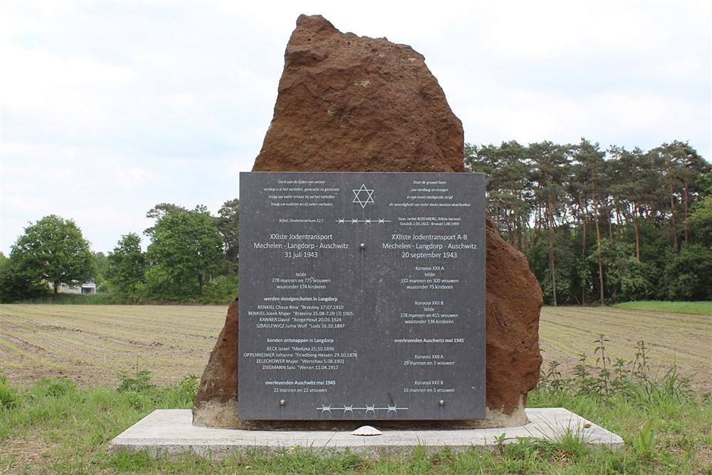 Memorial Monument XXIth And XXIIth Jew Transport Aarschot Langdorp