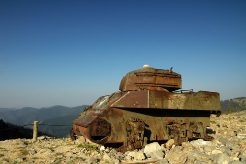 Destroyed M5A1 Light Tank