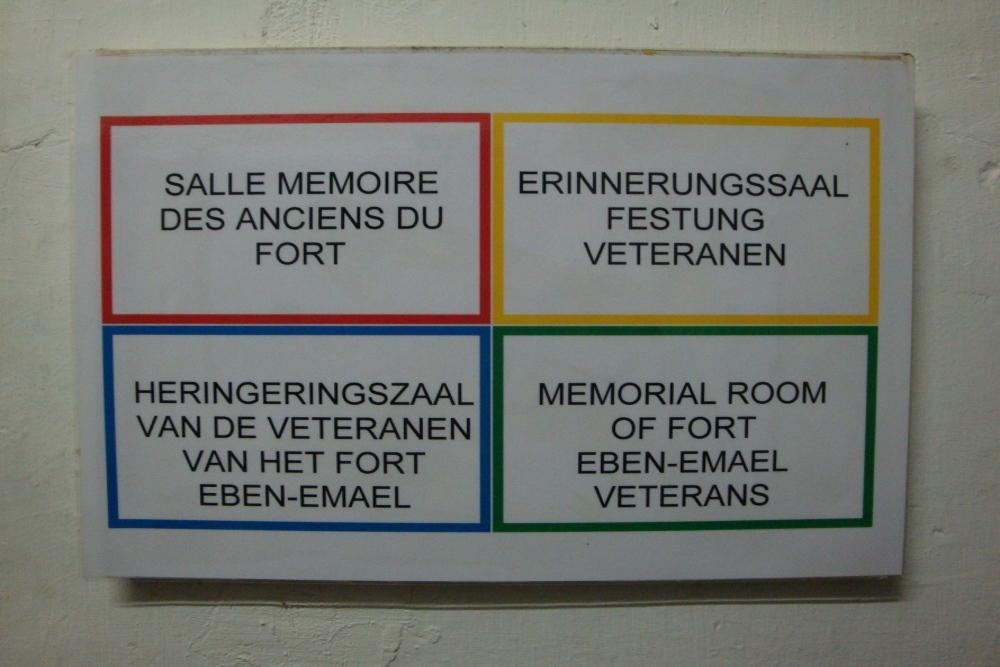 Herinneringszaal  Veteranen Fort Eben-Emael