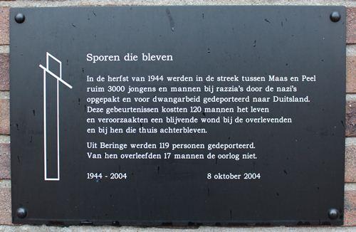 Memorial 'Tracks that were' Beringe