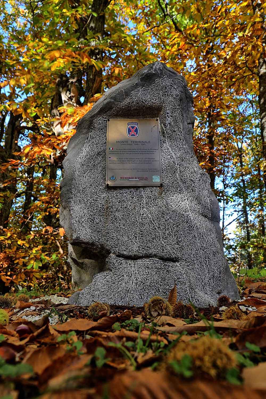 Monument U.S. 10th Mountain Division Monte Terminale