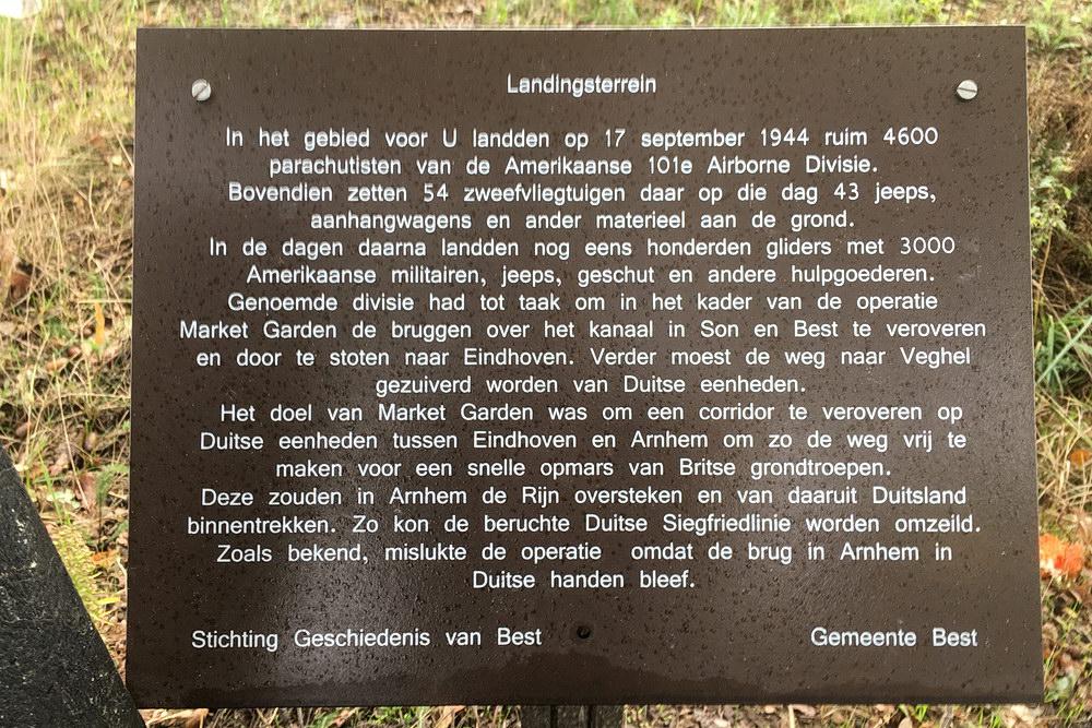 Commemoration plaque 101st Airborne Market Garden