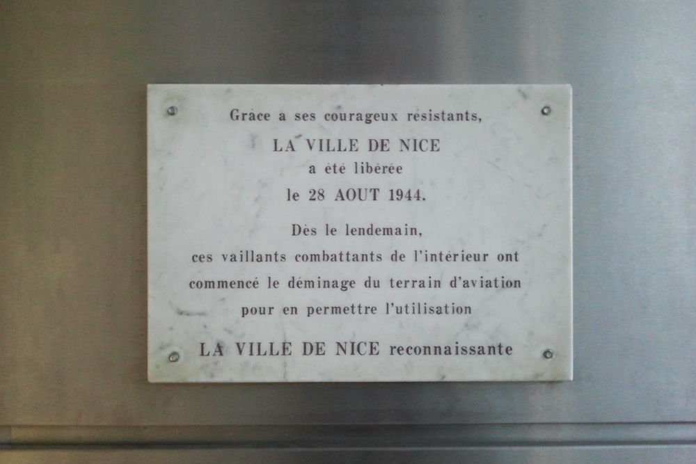 Plaque Nice Airport