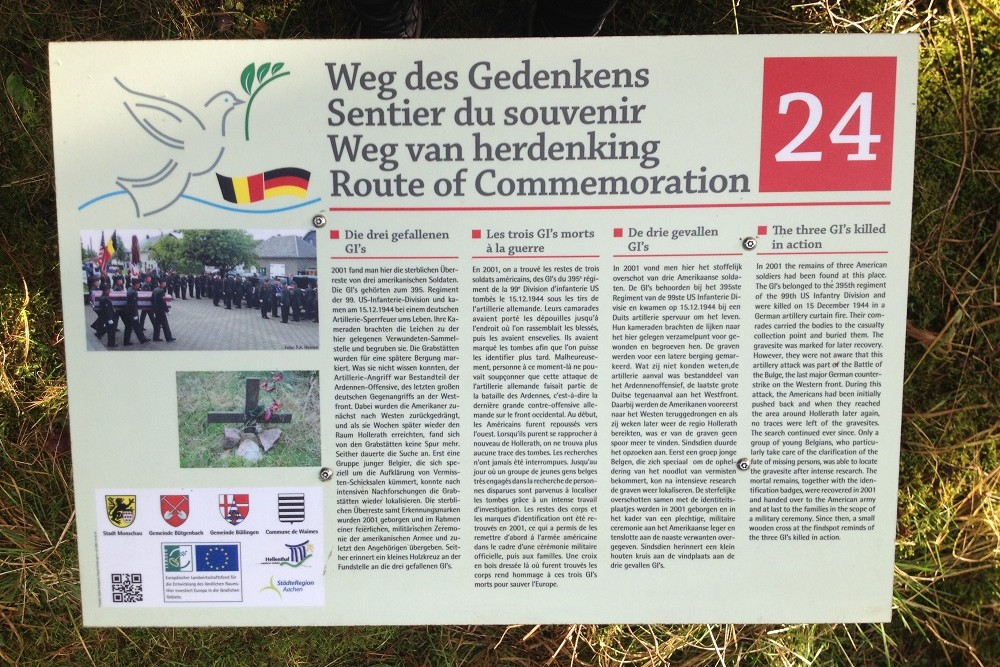 Route of Commemoration No.24: The Three GI's Killed in Action