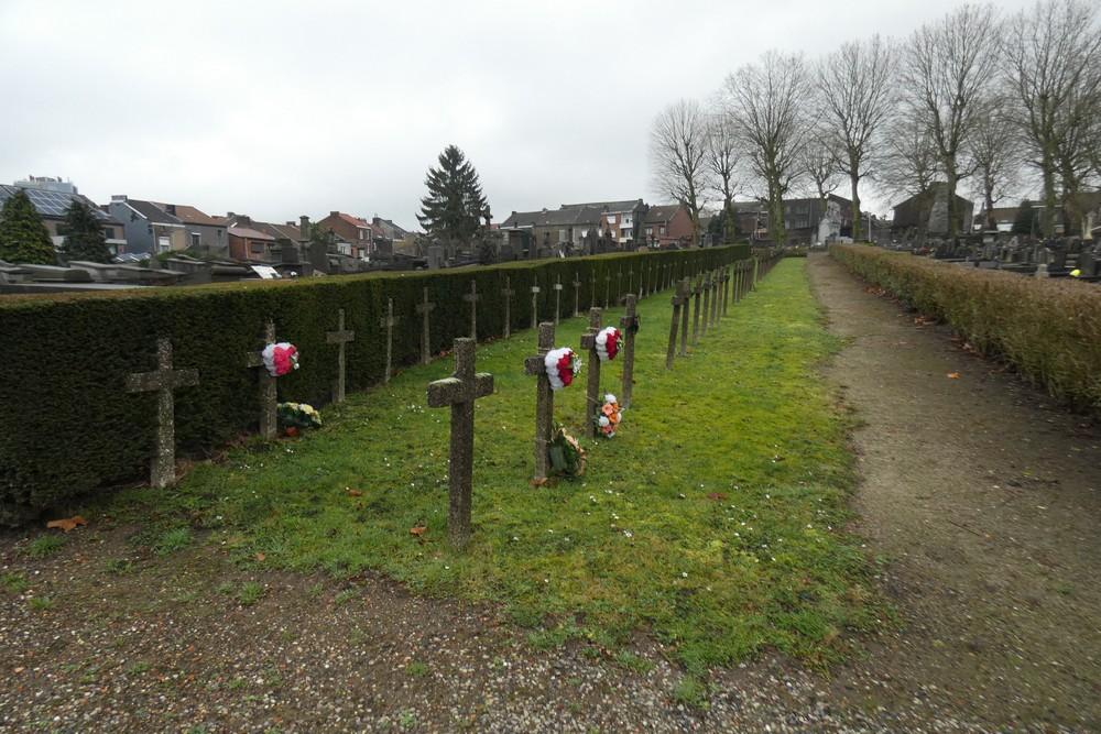 Graven Burgerslachtoffers WO2 Cimetière de Charleroi-Nord