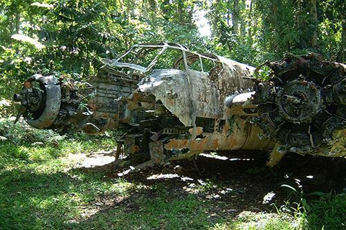 Wreck Nakajima Ki-49 Donryu Bomber