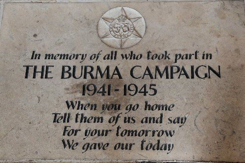 Memorial stone Burma Campaign