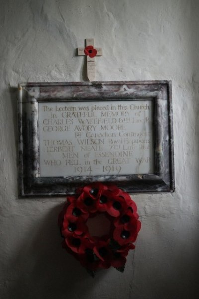 War Memorial St. Mark Church Essendine