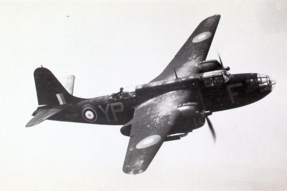 Crashlocatie DB-7B Boston Mark III A28-3 Code DU-Y